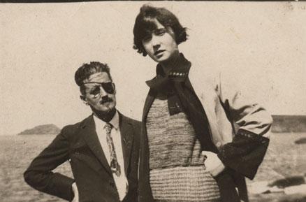 James Joyce y su hija, Lucía